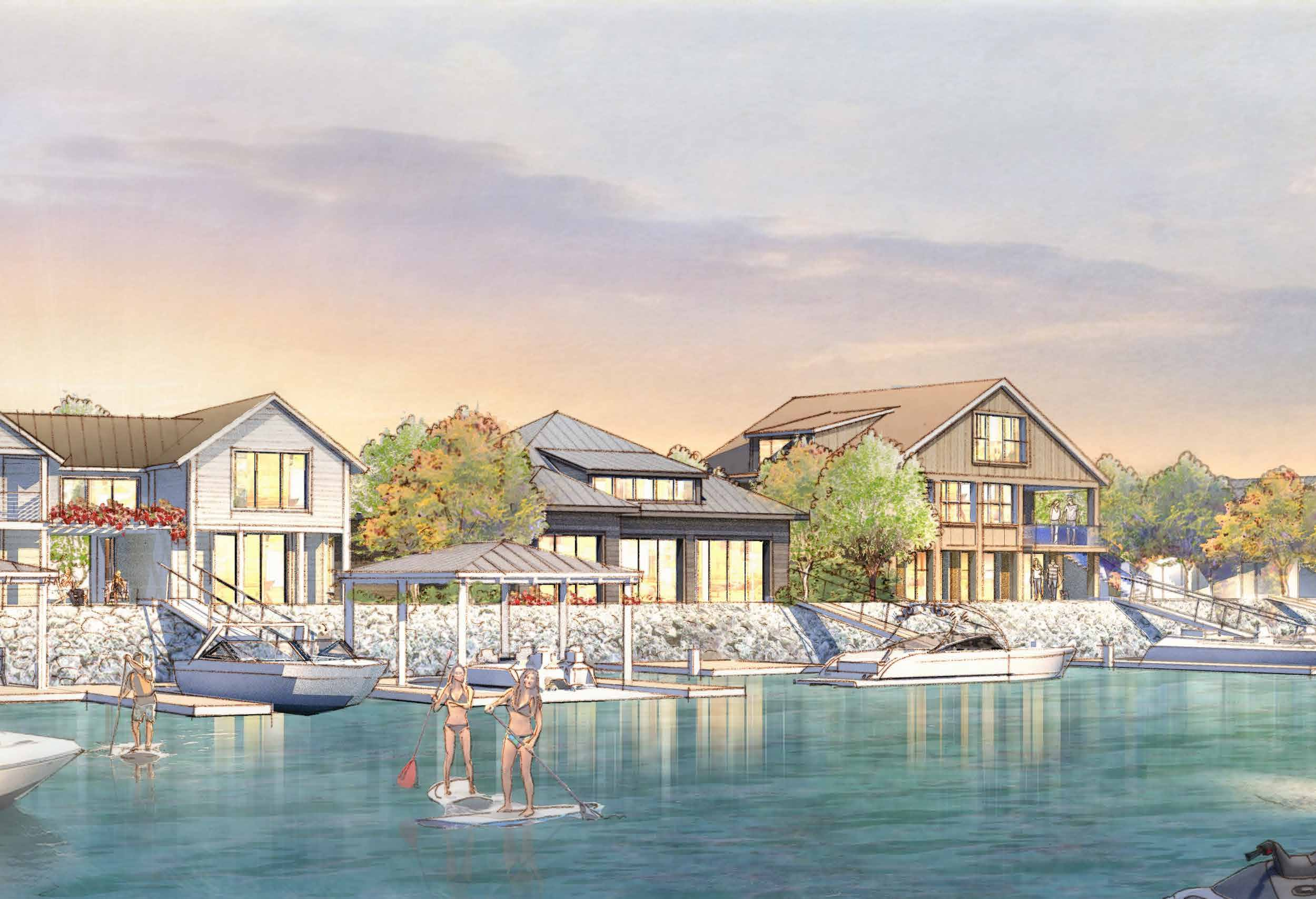 waterfront new homes at Delta Coves